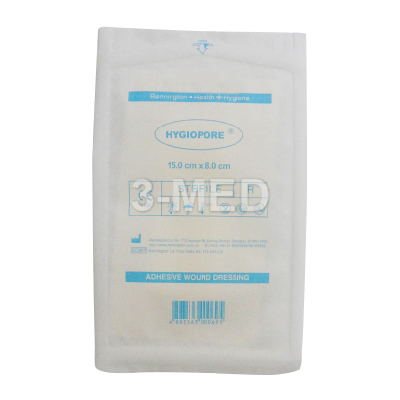 RP150-080 - HYGIOPORE Adhesive Wound Dressing 15x8cm